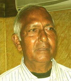 Veteran chess official and coach <b>Arati Bijoy Mohanty</b> in Bhubaneswar on <b>July 29, 2009.