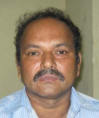 Orissa footballer <b>Biranchi Narayan Mohanty </b>in Bhubaneswar on <b>July 30, 2009.