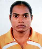 File photo of Orissa Police international woman athlete <b>Saraswarti Chand.