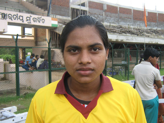 Orissa athlete <b>Renubala Mahanta</b> in Bhubaneswar on <b>August 16, 2009</b>