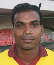 Orissa athlete <b>Prafulla Pradhan</b> in Bhubaneswar on <b>August 16, 2009.