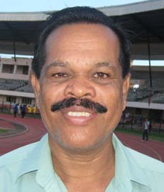 Eminent athletics coach <b>Arun Kumar Das </b>in Bhubaneswar on <b>August 18, 2009.