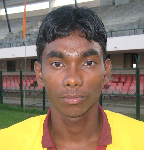 Orissa athlete <b>Anand Majhi </b>in Bhubaneswar on <b>August 17, 2009.