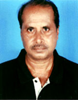 File photo of Orissa sports journalist <b>Sanatan Pani in 2009.
