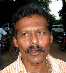 Former Orissa Santosh Trophy footballer <b>Pravat Kumar Mohapatra </b>in Bhubaneswar on <b>Sept 12, 2009.