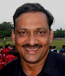 Former Orissa Santosh Trophy footballer <b>Dilip Sahu </b>in Bhubaneswar on <b>Sept 12, 2009.