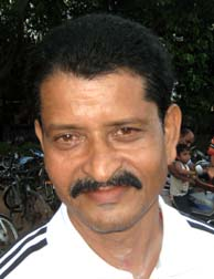 Former Orissa Santosh Trophy footballer <b>Manas Ranjan Samal </b>in Bhubaneswar on <b>Sept 12, 2009.