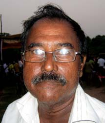 Former Orissa Santosh Trophy footballer <b>Manmath Nath Singh (Siru) </b>in Bhubaneswar on <b>Sept 12, 2009.