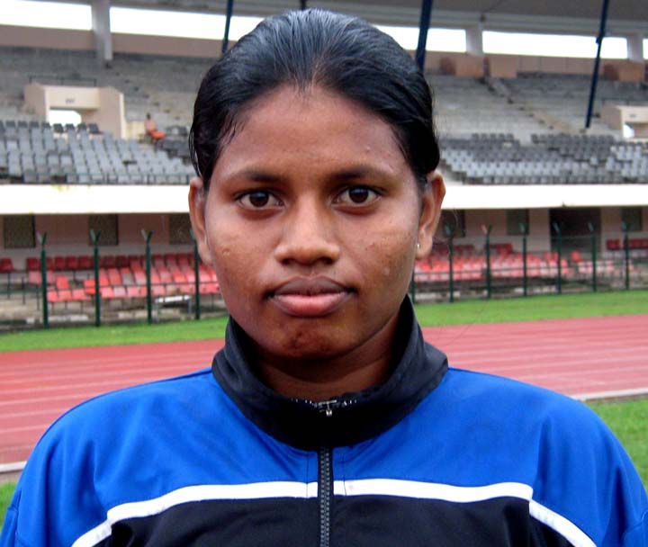 Orissa woman  football international <b>Prashanti Pradhan </b>in Bhubaneswar on <b>August 29, 2009.