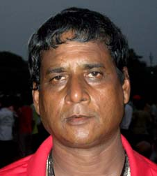 Former Orissa goalkeeper <b>Gopabandhu Sahu </b>in Bhubaneswar on <b>Sept 12, 2009.