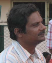 Controversial volleyball coach and Kalinga Stadium in-charge <b>Prasant Sahoo (alias Kalu)</b> in Bhubaneswar on <b>August 18, 2009.
