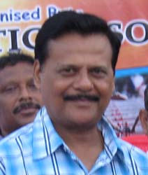 State Sports Department`s controversial Secretary <b>Suresh Chandra Patnaik</b> in Bhubaneswar on <b>August 18, 2009.