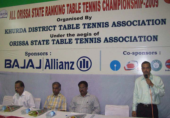 Guests at the opening ceremony of the All-Orissa Ranking Table Tennis Tournament in Bhubaneswar on <b>Oct 2, 2009.