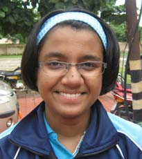 Orissa Table tennis player <b>Ankita Kha</b> in Bhubaneswar on <b>October 3, 2009</b>