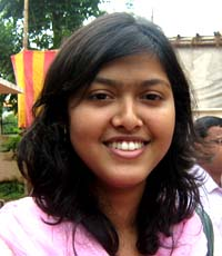 Orissa Table tennis player <b>Lipsa Nayak</b> in Bhubaneswar on <b>October 3, 2009</b>