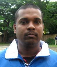 Orissa Table tennis player <b>D Debadutta Mohanty</b> in Bhubaneswar on <b>October 3, 2009</b>