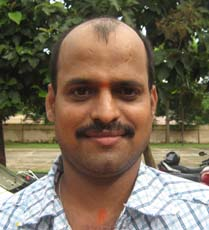 Orissa Table tennis player <b>KVP Rama Rao</b> in Bhubaneswar on <b>October 3, 2009</b>