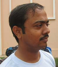 Orissa Table tennis player <b>Sujit Ray</b> in Bhubaneswar on <b>October 3, 2009</b>