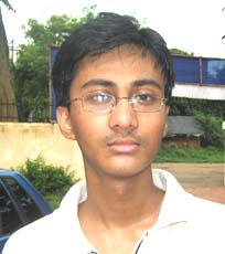 Orissa Table tennis player <b>Sashwat Samal</b> in Bhubaneswar on <b>October 3, 2009</b>