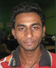 Orissa Table tennis player <b>Tousif Haque</b> in Bhubaneswar on <b>October 3, 2009</b>