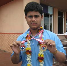 World Youth Chess Olympiad gold medallist <b>Debashis Das </b>in Bhubaneswar on <b>Oct 4, 2009.