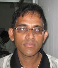 Orissa chess player <b>Ashok Kumar Satapathy</b> in Bhubaneswar on <b>Sept 28, 2009.