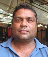 Orissa sports journalist <b>Tanmay Das </b>in Bhubaneswar on <b>Oct 9, 2009.