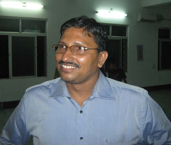 Orissa chess player <b>Manoj Kumar Panigrahi</b> in Bhubaneswar on <b>Sept 28, 2009.