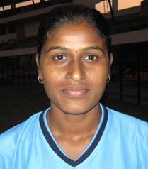 Orissa woman football international <b>Alochana Senapati</b> in Bhubaneswar on <b>Oct 26, 2009.