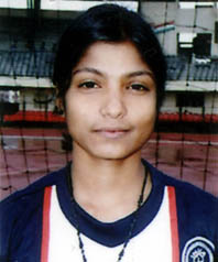 File photo of Orissa international woman footballer <b>Bijay Laxmi Sahoo.