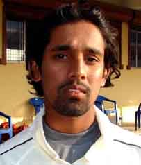 Orissa cricketer <b>Sandeep Mulia</b> at Cuttack in <b>October, 2009.