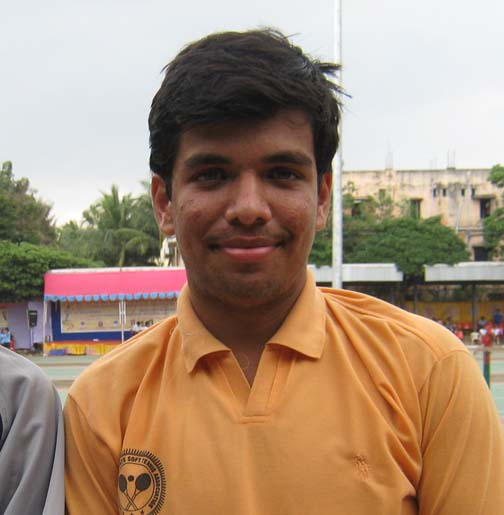 Maharashtra`s <b>Asad Raza Rizvi </b> poses after winning the men`s singles title at the 7th Senior National Soft Tennis Championship in Bhubaneswar on <b>Nov 18, 2009.