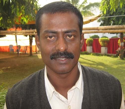 Orissa cricketer <b>Ramesh Prasad Debta </b>in Bhubaneswar on <b>Nov 26, 2009.
